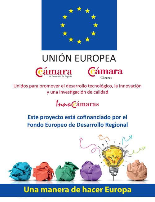 Blazquez Martín Obras Civiles y Medioambientales - Cartel subvención InnoCámaras Cáceres